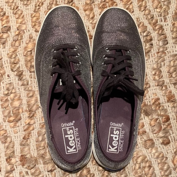 843a2bfd886d7 Keds Shoes - EUC Keds Champion Glitter Suede Sneaker